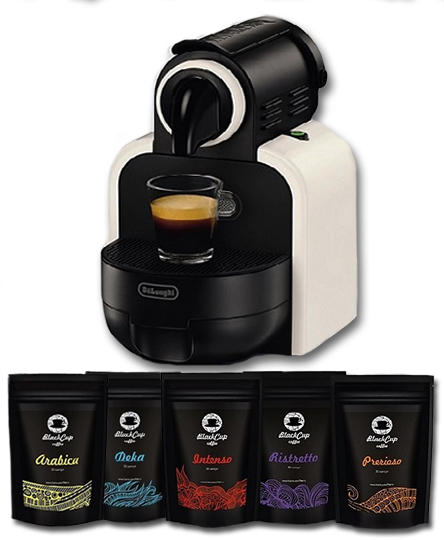 Кофемашина Nespresso + 100 капсул Blackcup Coffee
