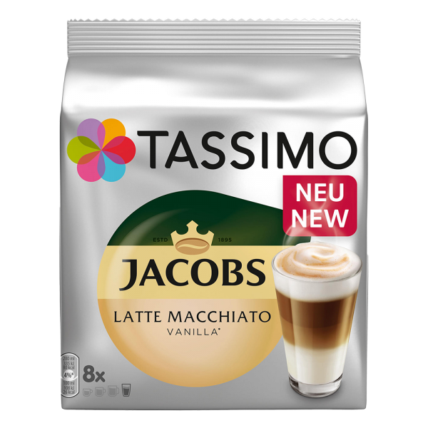 Кофе капсулы Tassimo LATTE MACCHIATO VANILLA (ТАССИМО ВАНИЛА)