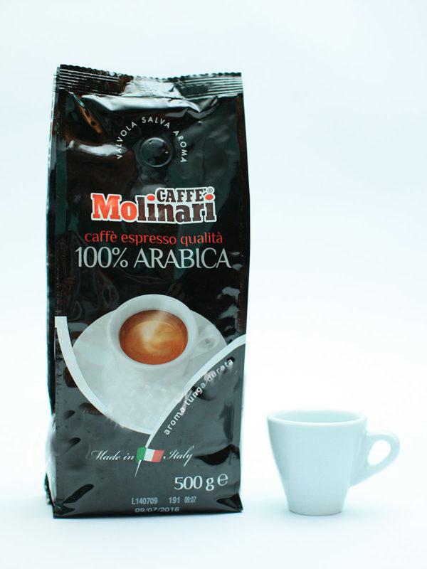 Кофе Molinari в зернах 100% Arabica (thumb8601)