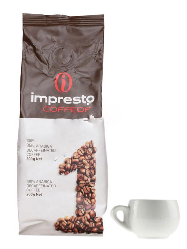Кофе Impresto в зернах Decaf 200 гр (thumb9051)